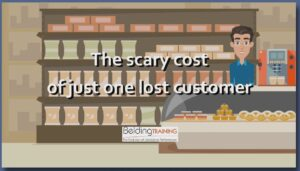Calculate the cost of lost customers